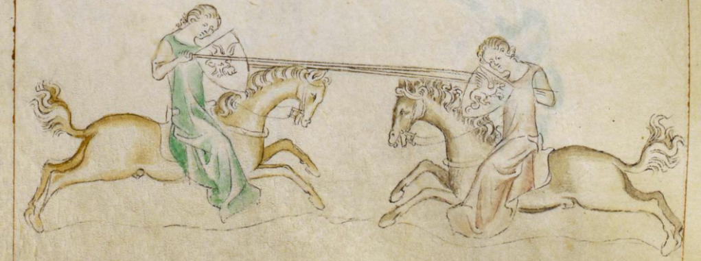 two women jousting
