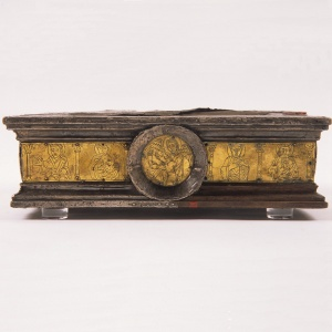 Copper, silver, wood portable altar